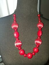 The Limited Beaded Dark Red Necklace