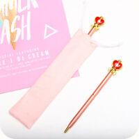 Anime Sailor Moon Metal Ball Pen Magic Wand Moon Ball-point Pen Collection Gift