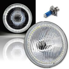 "7"" Halogen H4 Stock Headlight Headlamp White SMD 45-LED Halo Angel Eye Light 12V"