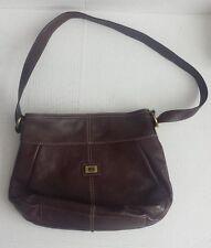 "Tommy Hilfiger Brown Leather Bag (13"" x 3.5"" x 9"") Genuine leather handbag"