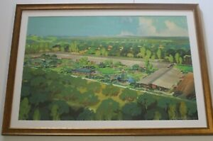 WILKINS AMERICAN REGIONALISM PAINTING HISTORIC INDUSTRIAL ARCHITECTURE LANDSCAPE