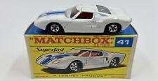 Matchbox Superfast No. 41 Ford G.T. in Original Box