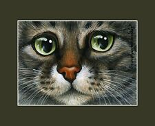 Tabby Cat ACEO Print Portrait Of Tabby by I Garmashova