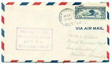 1938 PANAM FLIGHT COVER NEW YORK G.P.O.,NY TO HAMILTON,BERMUDA,FRANKED WITH C10