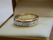 Clogau Silver & Welsh Gold Unisex Annwyl Ring size P RRP £270.00