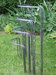 """3 x """"Naturally Rusting"""" Bow-Type Plant Supports. Made from Solid 6mm Metal"""