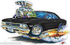 Chevy Chevelle Ss Fire Breather 1966 Vinyl Decal Wall Graphic Mural Sticker
