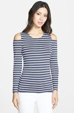 NWT Bailey 44 'Evert' Nautical Stripe Top EBO Grey/Ivory [SZ Small] #R546