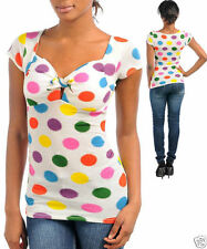 Polyester Polka Dot Hand-wash Only Casual Tops & Blouses for Women