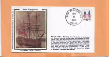 NAVAL ENGAGEMENT MAY 14,1975 NEW BEDFORD MA   COLORANO SILK CACHET