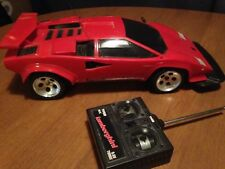 TYCO Lamborghini Countach RC Car, Red 9.6V Turbo, Vintage,+ New Battery/Charger