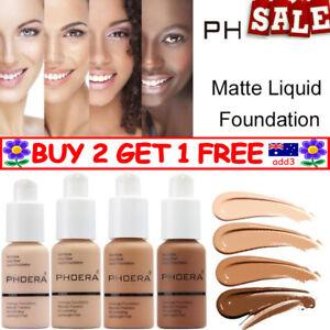 PHOERA Soft Matte Full Coverage Liquid Foundation Concealer Longlasting TT AU