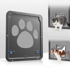 New listing Pet Screen Door Sliding Screen Dogs Door With Magnetic Flap For Exterior Doors L