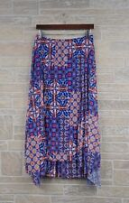 Rudy Rd. Woman 1X Plus Size Blue Multi-Color Hi Low Asymmetrical Flared Skirt