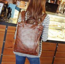 Vintage Classic women Leather Backpack bags Messenger rucksack laptop bag Nice