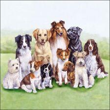 4 x Single Paper Table Napkin/Decoupage/Scrapbooking/Pedigree Dogs