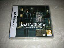 Last Window il segreto di Cape West Nintendo DS 3ds Ottimo ITA codice Club