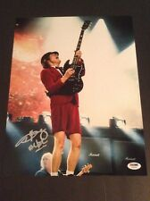 Angus Young signed autograph 11x14 BAS Certified AC/DC