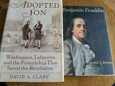 2 HCDJ Books - BENJAMIN FRANKLIN by Morgan & ADOPTED SON by Clary