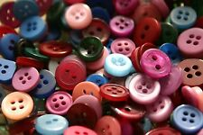100 SMALL MIXED COLOURS New Buttons -Great for Sewing Craft Cards Scrapbooking *