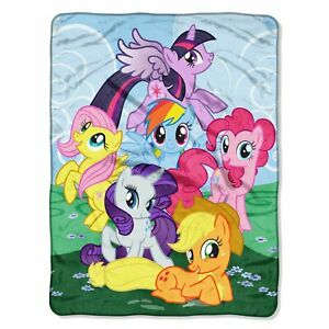 New My Little Pony Rainbow Dash Plush Fleece Throw Gift Blanket Cartoon Unicorn