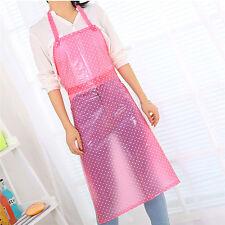 Anti-Oil Waterproof Transparent Acid Extended Home PVC Simple Dots Kitchen Apron
