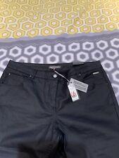 Laura Ashley Slim Leg Coated Jeans Size 16 Navy