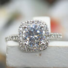 1.5 Carat CT VVS1 Diamond Engagement RING ROUND CUT Halo White Gold SIZE 5-9 Emy