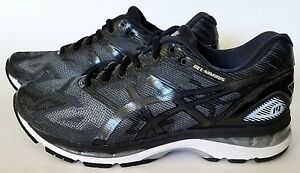 ASICS T702N Mens Gel-Nimbus 19 Running Shoes, Black/Onyx/Silver Sz 8.5 & 9 US 4E