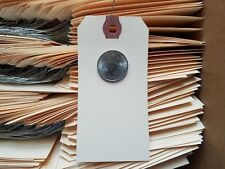 """25 - 4-1/4"""" x 2-1/8"""" WIRED MANILA TAG HANG LABEL SHIPPING INVENTORY STOCK SIZE 4"""