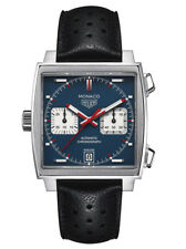TAG Heuer Mens Monaco Automatic Stainless Steel and Leather watch CAW211P.FC6356