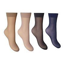 3,6,12 Pairs Ladies Ankle High Pop Socks 15 denier Comfort Top Size 4-7