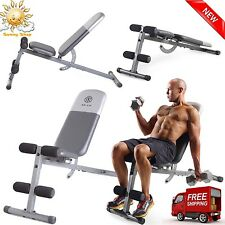 Adjustable Weight Bench Dumbbells Lifting Abs Workout Incline Flat Decline Press