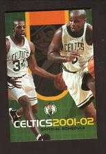 Kevin McHale /& Larry Bird Boston Celtics 1987-88 pocket schedule
