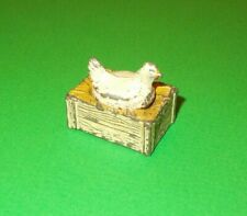 VINTAGE NESTING CHICHEN on NEST (2 pieces) LEAD PAINTED
