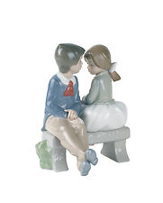 Nao Porcelain by Lladro 01136 First Love Primer Amor Boxed Unwanted Gift 1990