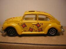 1/60  majorette Volkswagen 1302 coccinelle n°203  VW cox   deco jaune