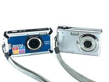 Two Pentax Digital CamerasOptio W80 Optio V10 Batteries Charger Bundle Lot Nice