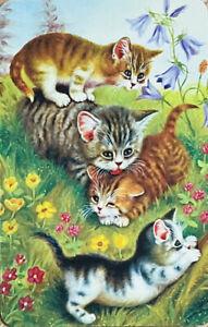 Modern Swap / Playing Card, Sweet Kittens, Cat's, Flowers near Mint Condition