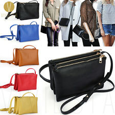 9cdeaed41683 Women Vintage Trio Crossbody Sling Faux Leather Fashion Shoulder Messenger  Purse