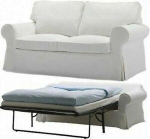 New Original IKEA cover set for Ektorp 2 seat sofa BED BLEKINGE WHITE 300.473.60