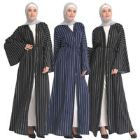 Islamic Women Open Abaya Muslim Kaftan Cardigan Long Maxi Dress Arab Jilbab Robe