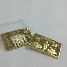 Medaillenbarren Goldbarren 999 Gold vergoldet Deutsche Bundeswehr Militär NEU