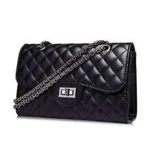 Hot Women Leather Shoulder Bag Quilted Chain CrossBody Messenger Handbag Purse
