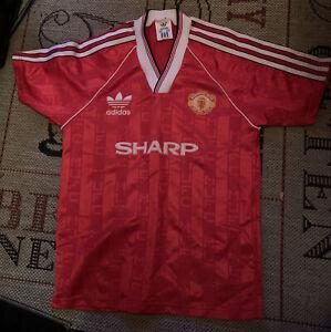 Manchester United Vintage Home Shirt 1988-1990 Large Boys