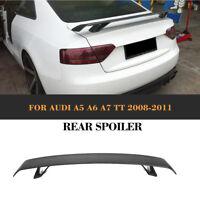 For Audi TT TTS 8J A5 A6 A7 08-11 Carbon Fiber Rear Trunk Boot Spoiler Wing