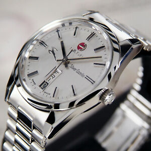 Vintage Rado Silver Gazelle Automatic Day/date Men's Dress Watch
