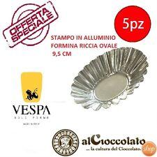 OFFERTA NR.5 FORME RICCIA OVALE STAMPI DOLCE VESPA CM 9,5 STAMPO FORMA 0087