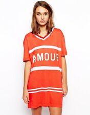 BRAND NEW Zoe Karssen Orange And White Boyfriend Amour Tee Size XXS RRP £80