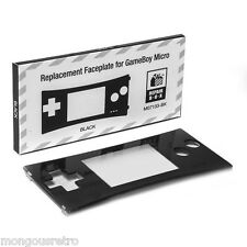 BRAND NEW 5 Faceplates for Original Nintendo Game Boy Micro Black 5x